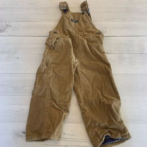 OshKosh Vestbak Fleece Lined Corduroy Overalls